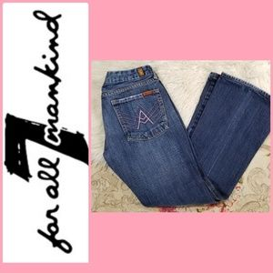 """7 for all Mankind MEDIUM WASH Jeans  """"A"""" PINK"""